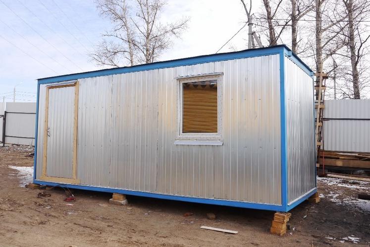 Купить жилой вагончик-бытовку с тамбуром для дачи в Самаре