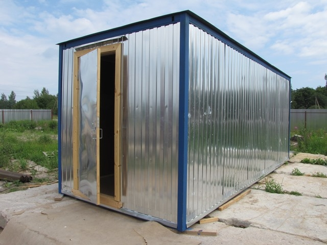 Купить строительный вагончик- бытовку с тамбуром и отделкой ДВП в Самаре