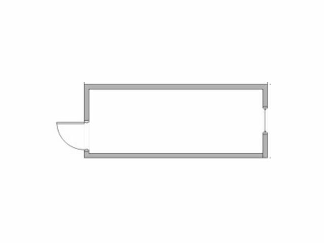 План-схема вагончика-бытовки Стандарт-пустышка: