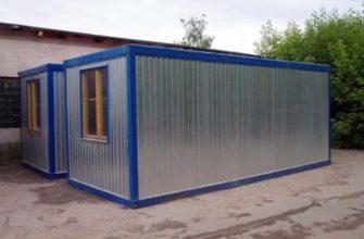Купить садовый домик-бытовку с металлической наружной отделкой в Самаре