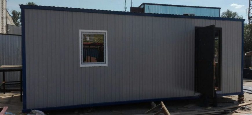 Купить бытовку строительную с отделкой вагонкой в Самаре: цены, характеристики